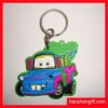 cute cartoon car design soft pvc keychain