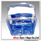 Clear PVC handbag for travel