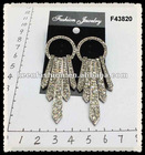 alloy diamond fashion earrings F43820