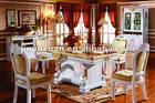 European New Classical Wooden Dining Table with Leather Chairs T216S#