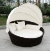 Rattan round Outdoor lounge bed, with canopy