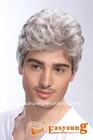 Synthetic men's wig, men's toupee, toupee for old men