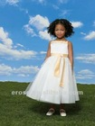 FG-068 Applique Spaghetti Straps Flower Girl Dresses Cheap With Sash