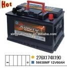 Sell JIS type Chery parts car battery ns60 12v 45ah