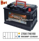 Sell JIS type Chery parts car battery ns60 12v 45ah