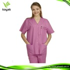 Pink medical scrubs sets