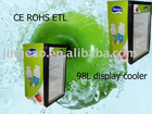 98 L glass door bar fridge