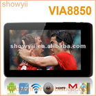 "New arrival 7"" VIA 8850 3D games Android 4.0 4GB wifi HDMI WM8850- MID tablet computer"