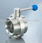 Sanitary Butterfly Valve Male Part DIN (stainless steel valve)