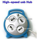 alarm clock hub usb with 4 port