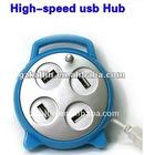 alarm clock hub usb with 4 port