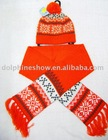 fashion scarf and hat set for kids