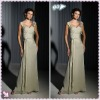 New Style 2012 Sweetheart One-Shoulder Ruffl Sheath Sash High Quality Mother Of Bride Dress