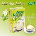 Matcha latte foam latte
