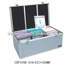 Aluminum 390 CD/DVD Cases/Boxes with Handle and Lock