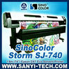 DX5 Head Eco Solvent Digital Printer, SinoColor Signjet DX5 SJ740 ( printer with Epson DX5 Head, 1.8 m &3.2 m, 1440 dpi)
