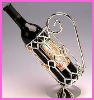 fancy silver plated alloy metal decorative wine holser