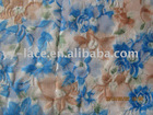 classic nice printing pattern on embroidery swiss nylon lace fabric