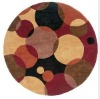 New Design Wool Hand-made Circle Carpet