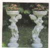 garden carved marble flowerpot sculpture