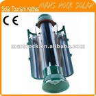 CE Approved 500ML Portable Solar Tourism Hot Water Kettle with a Compass
