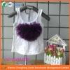 2012 New design Heart Ruffle Baby girls Top Vest,Fashion T shirt