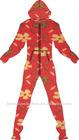 One piece hooded pajamas
