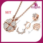 2013 Hotselling new design fashion jewelry sets for pendant and ring for Christmas
