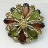 crystal flower brooch pin