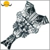Garment Lace Water Soluble Embroidery Lace Collar Motif