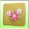 Flower iron on Wristband