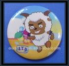 sheep pattern button metal badge for children,metal brooch