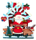 Wooden Santa Christmas Mumusical Musical Music Box