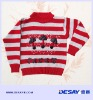DSK514 girls long sleeve stripe sweater with beads