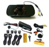 Rearview Mirror with 7 inch TFT Monitors video Parking Sensor system (RD-1170SC4