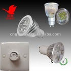 dim night light gu10/e27 3/4/5/6/9w