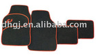 black and yellow car mats with high quality