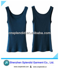 women high quality summer blue cotton vest for sports