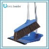 New Leader 2011 Hang-on Style Metal Alu Handle Dustpan&Upright Broom Broom Stick Set