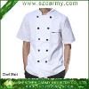 2012 super quality 100% cotton white short sleeve Chef workwear shirt