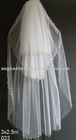 wedding veils/three layers bride veils/american net beaded veils 023