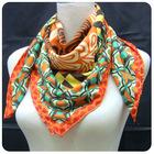 own design twill silk scarves twill