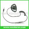 Two way radio accessories 3.5mm plug curly wire listen only earphone