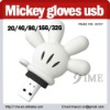 Mickey gloves usb drive,cartoon creative usb flash drive,2G4G8G16G32G