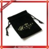 Black customized small bags for jewelry or gifts packaging