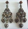ZE0624 Fashion charming crystal earrings jewelry