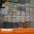 Natural Granite Cube Stone on Mesh