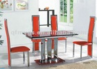 extendible glass table and chairs