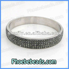Micro Pave Crystal Stainless Steel Bangles Wholesale High Quality Rhinestone Jewelry For Men Women RCB-001
