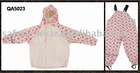 Kids rain suit made of PU coated polyester tricot